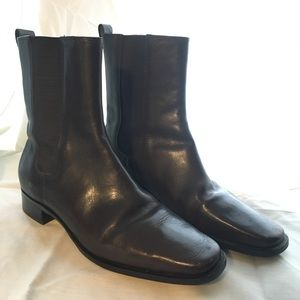 Mid-Calf Leather Riding Boots
